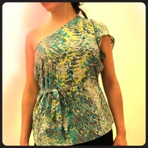 One-shoulder Banana Republic top XS